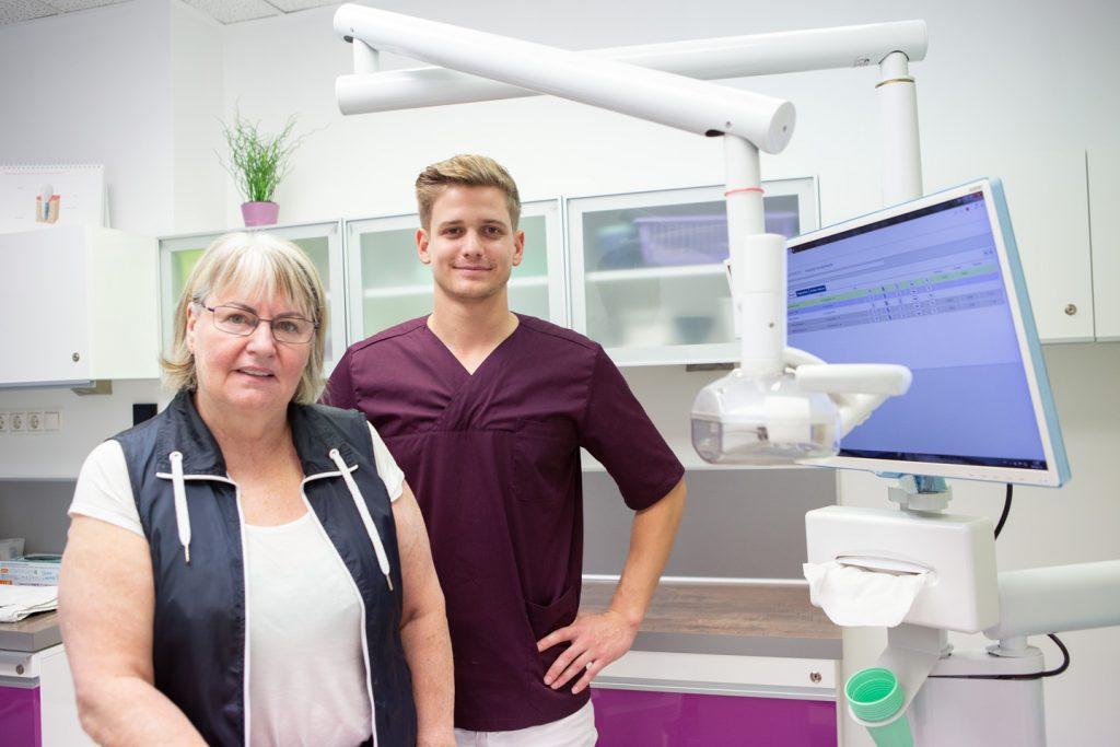 dr. Farkas Dávid és páciense